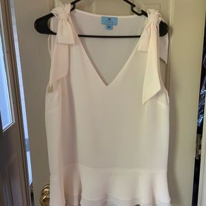Sleeveless top with bows